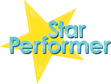 logo star performer. Black Bedroom Furniture Sets. Home Design Ideas